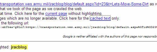 Google Seach click the cached