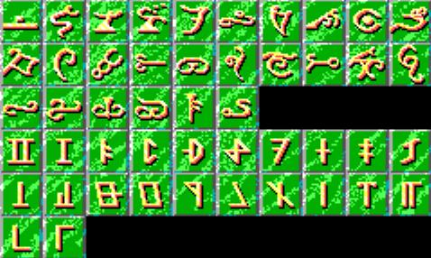 CotAB code wheel runes