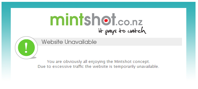 Mintshot down… again