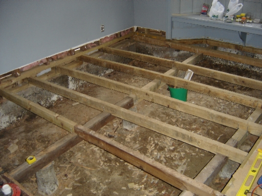 Photo of floor - with more joists