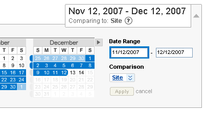 Analytics date picker change 2