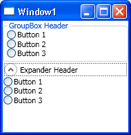 GroupBox and Expander in default style