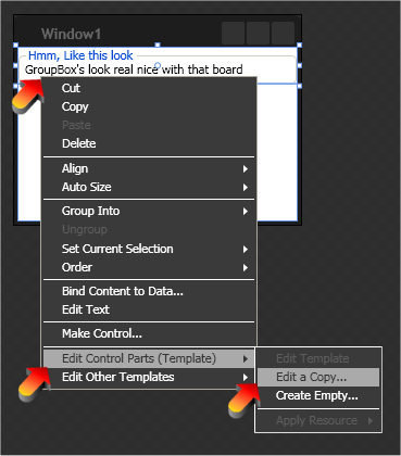 How to copy a WPF control's controll template